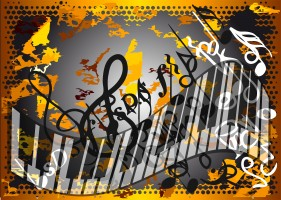 autumn melody. abstract musical background. 10 EPS