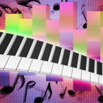 Piano Music Background Texture